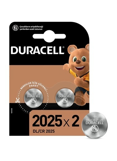 Duracell Duracell Dayanıklı 2'Li Cr 2025 Lityum 3V Pil Renkli